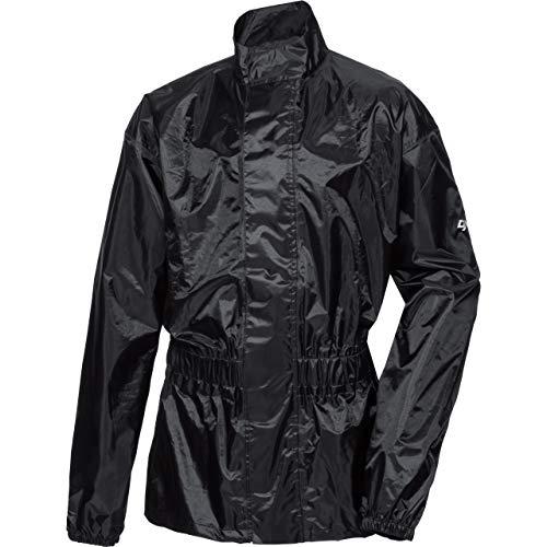 DXR Regenjacke, Regenschutz, Fahrrad Regenbekleidung Textil Regenjacke 1.0, Regenjacke wasserdicht, Unisex, wasserdicht durch verschweißte Nähte, inklusive Mini-Packsack, Polyester, Schwarz, XL