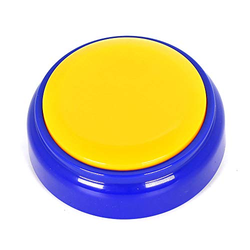 Neutral Funny Record Sound Button Playback Button- Record and Send Your Own Personal Voice Message 30 Seconds. (Yellow + Blue)