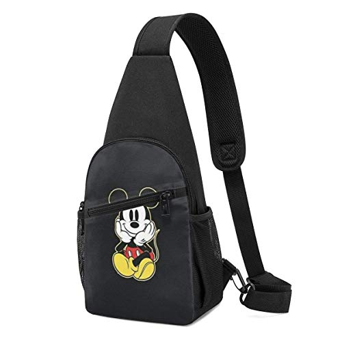 Boweike Sling Backpack Casual Mickey Mouse Crossbody Daypack Shoulder Bag Chest Bag Rucksack