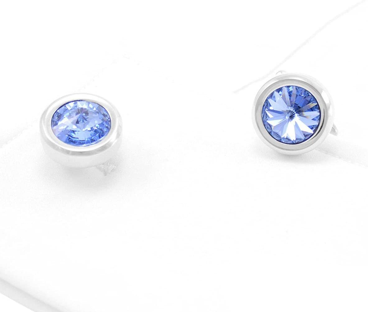 BO LAI DE Men's Cufflinks Elegant Blue Crystal Metal Cuff Links Shirt Cufflinks Suitable for Wedding Business Luxury Tuxedo Formal Shirts, with Gift Box
