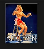 Vintage Pin Up Kitchen Metal Sign, Pin Up Sign, Vintage Sign Aluminum Plaques Signs Tin Plaques Wall...