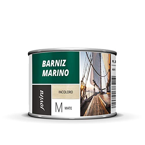 BARNIZ MARINO, Barniz madera exterior-interior, barniz madera incoloro-transparente) Especial resistencia en ambientes marinos. (375 ml, MATE)