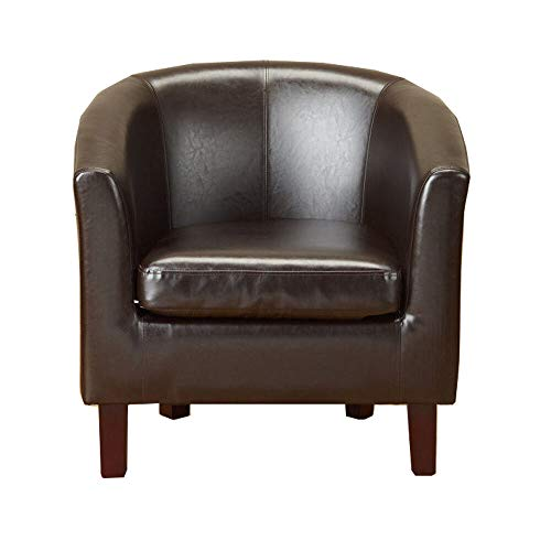 1home Bonded Leather Tub Chair
