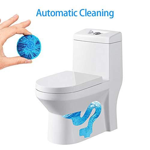 FASD WC Comprimés Désodorisants, Rinçage WC Automatique À Usage Unique Cleaner Helper Fragrant Balle Détachant Bleu Nettoyage Tablette Réservoir Désodorise (30Pcs)