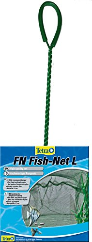 Tetra FN Fish-Net, hochwertiges Fangnetz aus reißfestem Nylon für Aquarien, Große L Netzgroße 12 cm, ermöglicht das leichte und schonende Herausfangen von Fischen