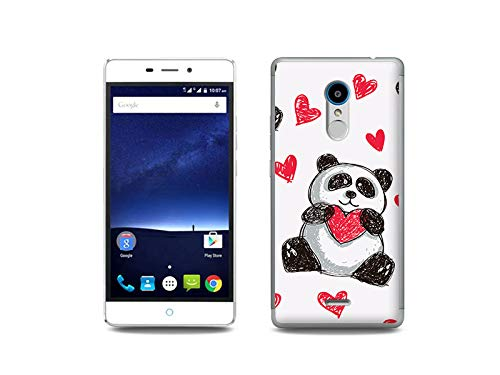 etuo Handyhülle für ZTE Blade V580 - Hülle, Silikon, Gummi Schutzhülle - Panda mit Herz