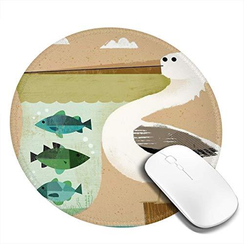 7.9x7.9 In Ronde muismat Desk Pelican Aquarium Leuke Toetsenbord Mat Grote Muis Pad Voor Computer Desktop PC Laptop