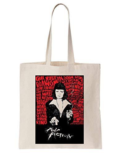 KRISSY Pulp Fiction Coke Poster Schultertasche Tote Bag