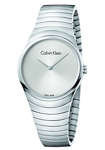 Calvin Klein Damen Analog Quarz Uhr mit Edelstahl Armband K8A23146