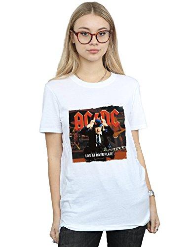AC/DC Mujer Live At River Plate Columbia Records Camiseta del Novio Fit XX-Large Blanco