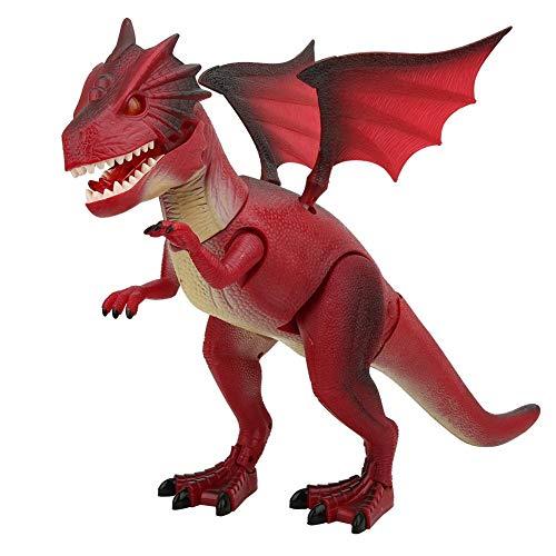 Lantro JS Juguete de Dinosaurio eléctrico, 50,5 x 33 x 15 cm / 19,9 x 13,0 x 5,9 Pulgadas, Juguete de Dinosaurio de Historia, Modelo de Dinosaurio Que Camina para niños