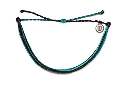 Pura Vida Surfboard Leash Bracelet- 100% Waterproof Wax Coated Girls' Accessories- Handmade