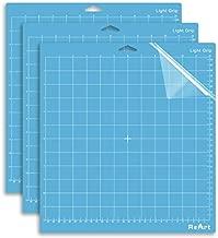 ReArt Light Grip Cutting Mat for Cricut Maker/Explore Air 2/Air/One(12x12 Inch, 3 Mats) Fabric Adhesive Sticky Green Quilting Cricket Cutting Mats Replacement Accessories for Cricut