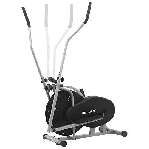 ISE Sport Crosstrainer Ellipsentrainer Fahrradtrainer mit Rillenriemenantrieb Heimtrainer Elliptical Machine mit Traningscomputer,Lenker abnehmebar,2 in 1 Cardio Trainer SY-9000