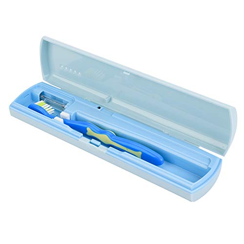 Desinfectiemiddel voor UV-tandenborstels, desinfectiemiddel voor op reis, houder voor desinfectiemiddel voor elektrische tandenborstel (roze)
