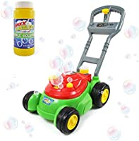 Sunny Days Entertainment Bubble-N-Go Deluxe Toy Bubble Lawn Mower with 4 oz Bubble Solution | No Batteries Required |...