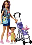 Barbie Babysitting Playset with Skipper Doll, Baby Doll, Bouncy Stroller and Themed Accessories for 3 to 7 Year Olds​​​