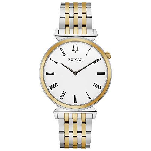 Bulova 98A233 Regatta Reloj de pulsera de dos tonos con esfera blanca para hombre