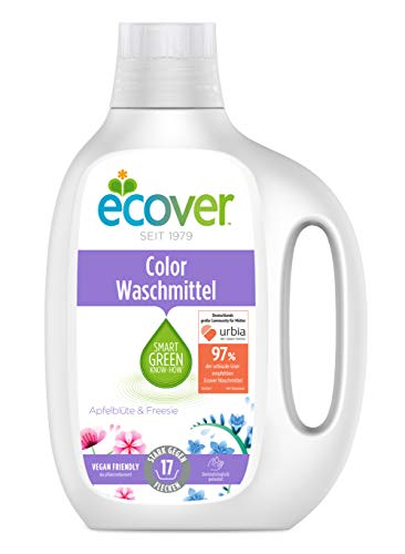 Ecover Color Waschmittel Konzentrat Apfelblüte & Freesie, 3er Pack(3 X 850 Ml)