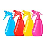 BuQiuRen 4 Pack Empty Plastic Spray Bottles, Squirt Bottle for Cleaning Solutions, Hair, Essential Oil, Plants, Refillable Sprayer with Mist and Stream Mode(8 Ounce)