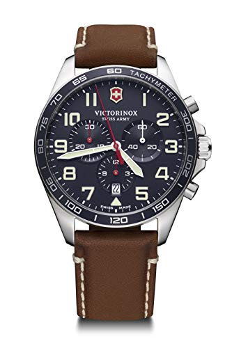 Victorinox Herren Field Force Chronograph - Swiss Made Analog Quarz Edelstahl Uhr 241854