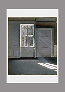 BiblioArt Series ハマスホイ「Dust Motes Dancing in the Sunbeams 」A4版額絵
