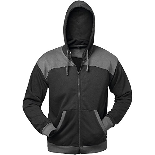 Elysee 21031-XL Sweat-Shirt Jacke Florenz Größe XL in schwarz/grau