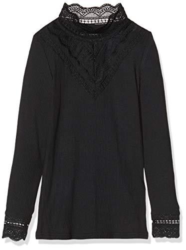 NAME IT 13173362 Camiseta de Manga Larga, Negro (Black Black), 6 años para Niñas