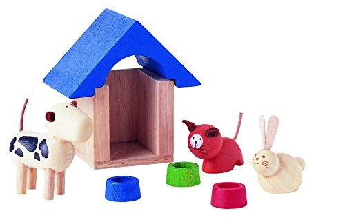 PlanToys - PT7314 - Accessoires de maisons de poupées, la niche et les animaux domestiques