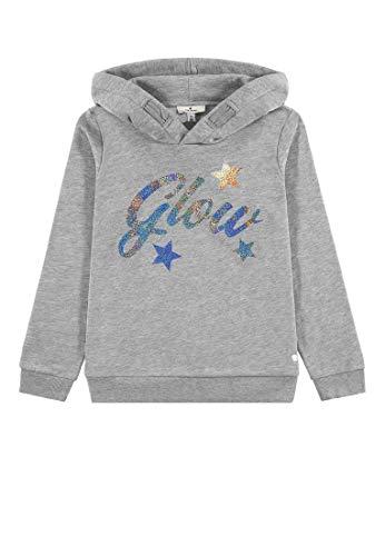 TOM TAILOR Kids Mädchen Hoodie solid Sweatshirt, Grau (Drizzle Melange|Gray 8438), (Herstellergröße: 152)