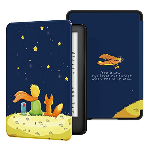 Ayotu 2019 Kindle Ledertasche - Automatisch Wake/Sleep, kompatibel mit dem neumodischen Kindle von Amazon (10. Generation - 2019),Der Junge & der Fuchs
