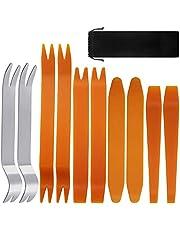 SourceTon Kit för borttagning av automatiska klippningsverktyg uppsättning med 10 st med förvaringsväska, bilpanel instrumentbräda radio borttagning installatör bända verktygskit, borttagningskit, fästverktyg borttagningskit, fästningsborttagning