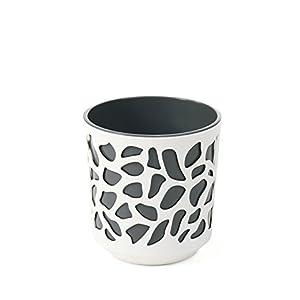 Maceta DUET 195 mm de diámetro, color crudo + antracita | macetas coloridas para interiores y exteriores (diámetro 195…