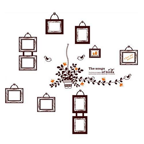 Jadpes Fotolijst Muurstickers, 120 x 130 cm, milieuvriendelijk materiaal met mooi patroon, leuke decoratie voor woonkamer, kinderkamer, tv, bank, deur, koelkast