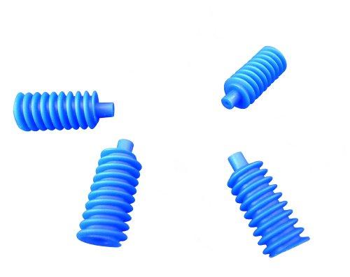 Ajax Scientific Me213–0001s Plastique Gear WORM, 1.3 cm de diamètre x 3.3 cm de long, Large, Bleu (lot de 10)