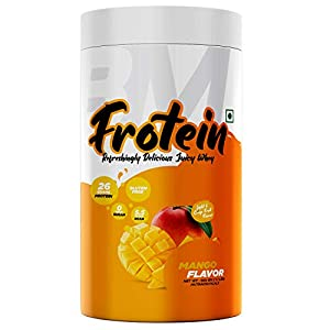 Bigmuscles Nutrition Frotein 26g Refreshing Mango Flavored Hydrolysed Whey Protein Isolate 6g Glutamine 15g EAA Per Serving 0g Sugar Light and Crisp Like Juice (15 Servings, 500 gm)