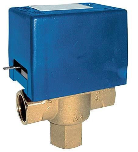 Mut modelo SF20, 230 V, válvula de zona con retorno de muelle desviador de 3 vías, 230 V, azul y amarillo