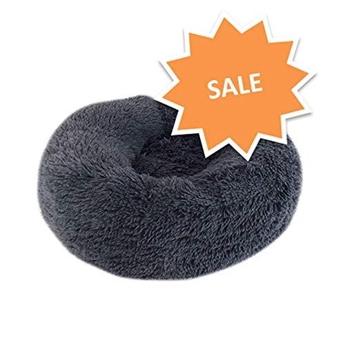 NIBESSER Katzenbett Schöne Tierbett, für Katzen und kleine bis mittelgroße Hunde Plüsch Weich Runden Katze Schlafen Bett