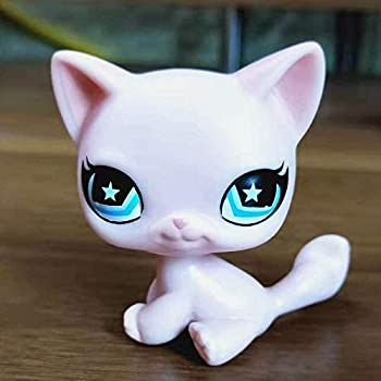 Greneric Littlest Pet Store Short Haired Cat Littlest Pet Shop Rare LPS Toy Sparkle Action Figures Kids Toy Gift