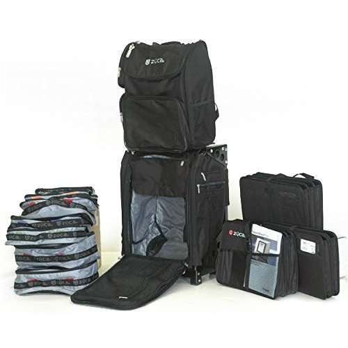 ZUCA Duo: Flyer Travel w. Black Frame, Business Backpack, 3 Document Organizers