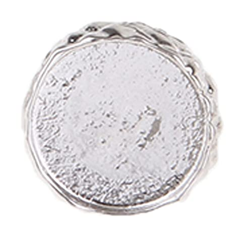 BINNANFANG AS903 1 Pieces Beads Caps Beads Spacers for Jewellery Making Bohemian Style Spacers Bead Pendant End Cap Findings Jump Rings (Color : Silver)
