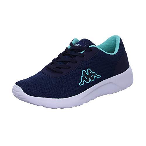 Kappa Damen Tunes W Sneaker, 6737 Navy/Mint, 39 EU