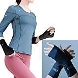 GEARWEAR Fingerless Gloves for Women Ladies with Warm Plush for Driving Running Walking Fishing Runner Gloves