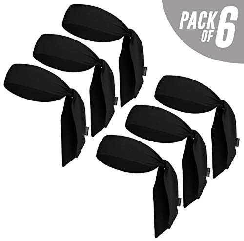 Head Tie & Sports Headband - Keep Sweat & Hair Out of Your Face - Ideal for Running, Working Out, Tennis, Karate, Athletics & Pirates. Performance Stretch & Moisture Wicking