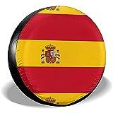 Hokdny Cubiertas para Llantas, Protector Impermeable para Llantas De Repuesto,Bandera De España Cubiertas De Llantas Coche Viaje Remolque Llanta De Repuesto Cubierta De Llanta