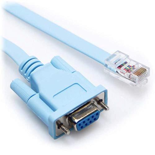 IberiaPC Cable DB9 a RJ45 para Dispositivos Cisco