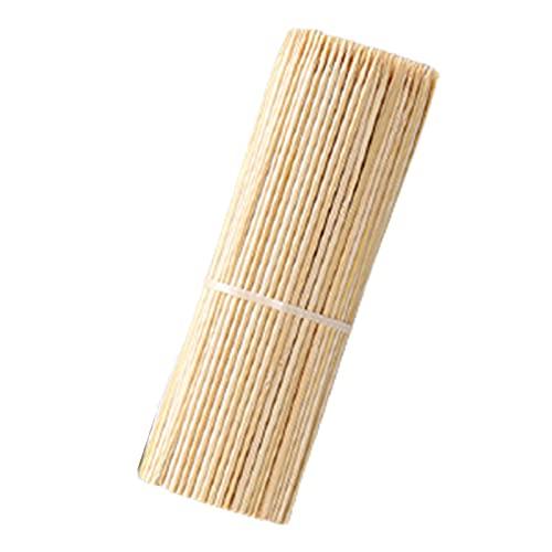 SHHMA 15cm Bambú Natural Bambú Pinchos de Madera Pinchos de Madera Kebab Sticks Stickers Sticks Pinchos Cortos para la Fruta Kabobs, 1000pcs