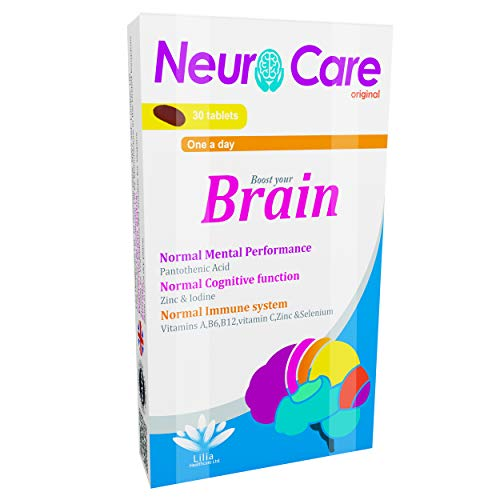 Neuro Care original | Complete Brain Boost Supplement for Normal Mental Performance,Improve Focus | Immunity Support Multivitamin | 30 Chocolate Taste Tablets|1 Month Supply