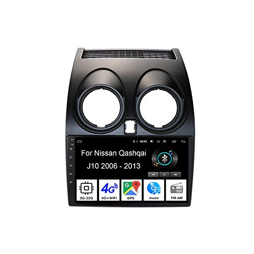 Autoradio Android Car Radio Stereo 9 Pulgadas Pantalla Táctil para Nissan Qashqai J10 2006-2013 4 Cores 2G+32G para De Coche Conecta Y Reproduce Autoradio Mit Bluetooth Freisprecheinrichtung