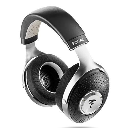 Focal ELEGIA Audiophile Circum-Aural - Auriculares de Diadema Cerrados, Color Negro y Plateado